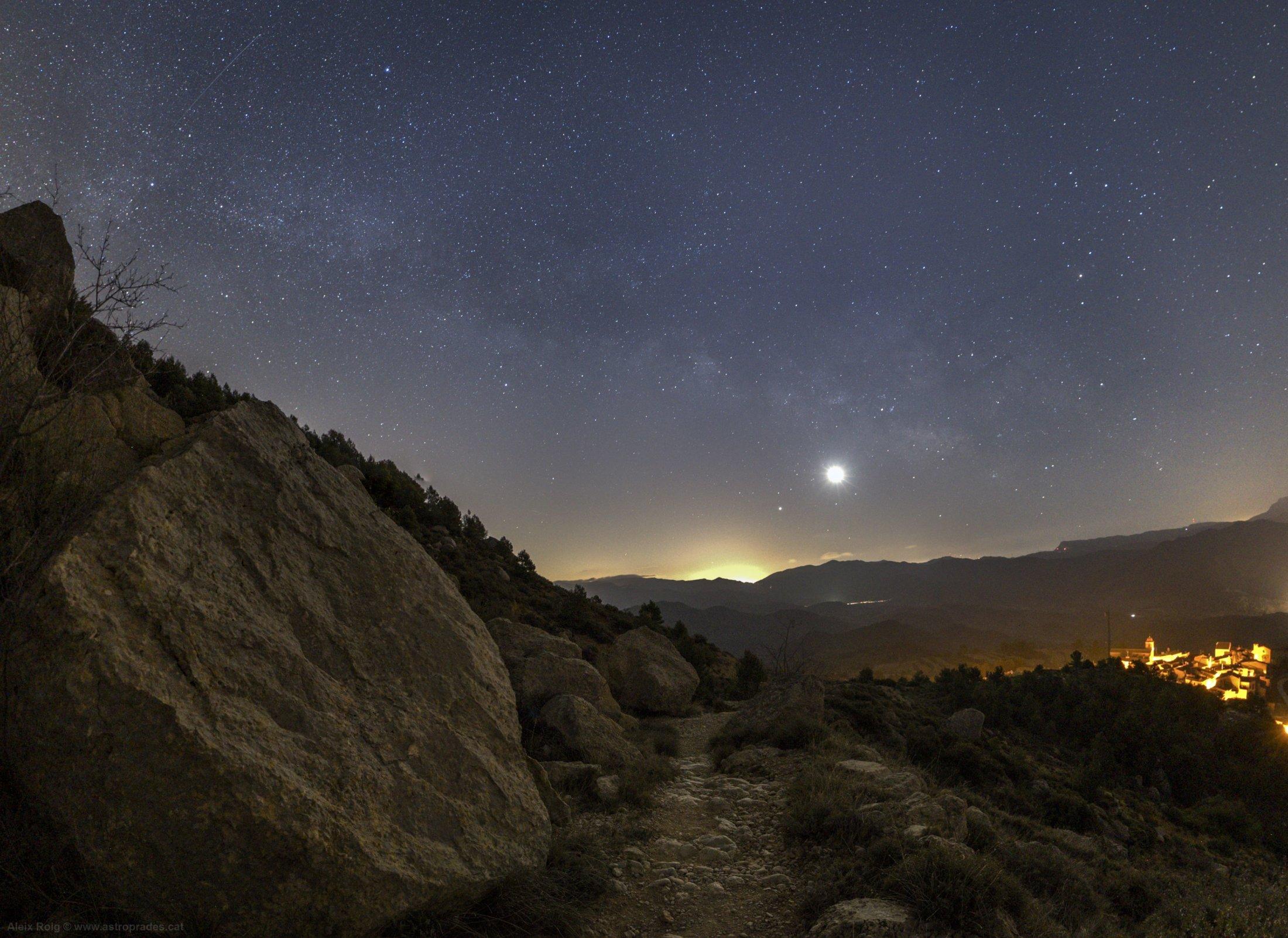 Conjunció Lluna, Mart, Júpiter, Saturn - Aleix Roig