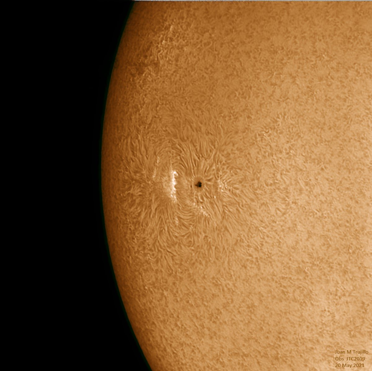 Detall Cromosfera Sol - Juan Trujillo