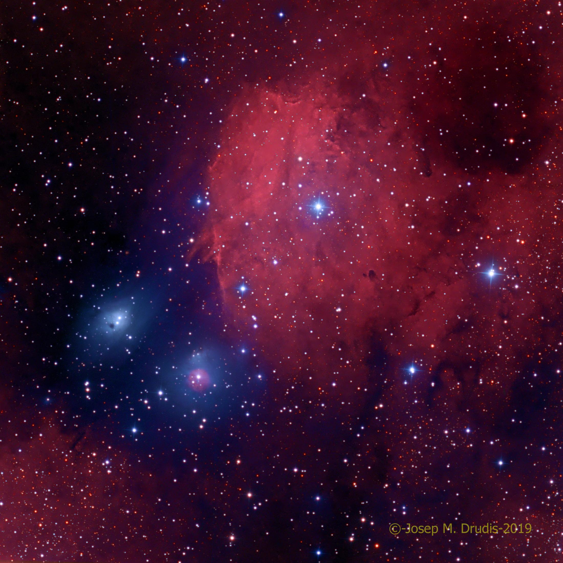 NGC 6595, NGC 6589 i IC 1284 - Josep Maria Drudis