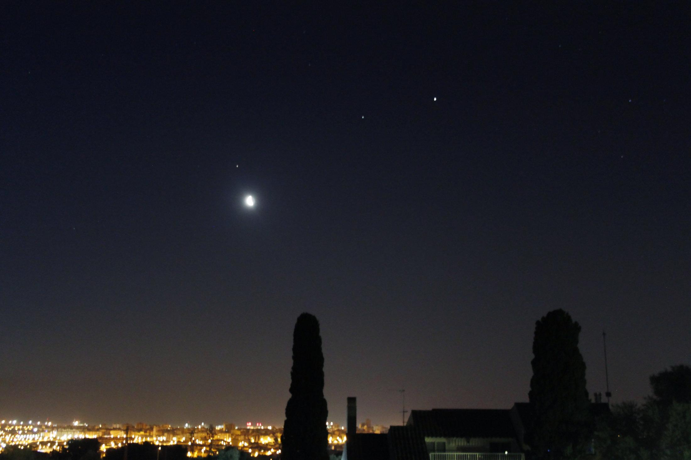 Lluna, Mart, Saturn i Júpiter - Carles Labordena